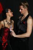 Ρουζ moulin χορευτών ζεύγους Στοκ φωτογραφία με δικαίωμα ελεύθερης χρήσης