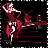 Ρουζ Moulin Στοκ εικόνες με δικαίωμα ελεύθερης χρήσης