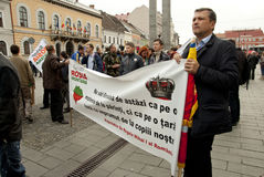 Ρουμανία στη συνεχή διαμαρτυρία Στοκ εικόνα με δικαίωμα ελεύθερης χρήσης