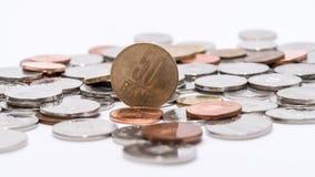 Ρουμανικά νομίσματα & x28 Ρουμανικό currency& x29  Στοκ Εικόνες