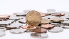 Ρουμανικά νομίσματα & x28 Ρουμανικό currency& x29  Στοκ φωτογραφίες με δικαίωμα ελεύθερης χρήσης