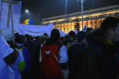Ρουμανικές διαμαρτυρίες στοκ εικόνα