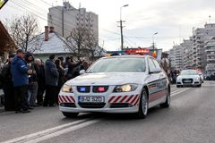 Ρουμανική αστυνομία παρελάσεων εθνικής μέρας στρατιωτική vehicule στοκ φωτογραφία με δικαίωμα ελεύθερης χρήσης