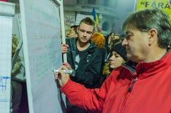 Ρουμανική διαμαρτυρία 06/11/2015, Βουκουρέστι Στοκ εικόνα με δικαίωμα ελεύθερης χρήσης