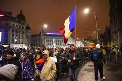 Ρουμανική διαμαρτυρία 29/01/2017 στοκ εικόνα