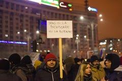 Ρουμανική διαμαρτυρία 29/01/2017 στοκ εικόνες