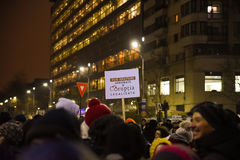 Ρουμανική διαμαρτυρία 29/01/2017 στοκ φωτογραφίες