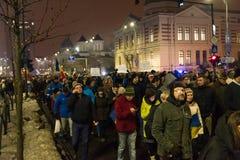 Ρουμανική διαμαρτυρία 29/01/2017 στοκ φωτογραφία