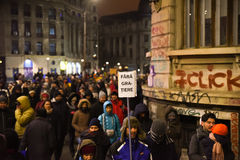 Ρουμανική διαμαρτυρία 29/01/2017 στοκ εικόνες με δικαίωμα ελεύθερης χρήσης