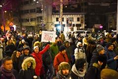 Ρουμανική διαμαρτυρία 29/01/2017 στοκ φωτογραφίες με δικαίωμα ελεύθερης χρήσης