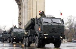 Ρουμανική παρέλαση στρατού Στοκ Φωτογραφία