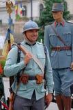 Ρουμανική παρέλαση στρατού στο Βουκουρέστι, Ρουμανία Στοκ εικόνα με δικαίωμα ελεύθερης χρήσης