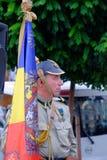 Ρουμανική παρέλαση στρατού στο Βουκουρέστι, Ρουμανία Στοκ Εικόνα