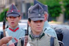 Ρουμανική παρέλαση στρατού στο Βουκουρέστι, Ρουμανία Στοκ εικόνες με δικαίωμα ελεύθερης χρήσης