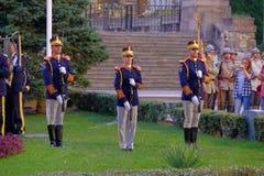 Ρουμανική παρέλαση στρατού στο Βουκουρέστι, Ρουμανία Στοκ Φωτογραφίες