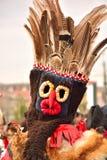 Ρουμανική παραδοσιακή ειδωλολατρική μάσκα Στοκ φωτογραφίες με δικαίωμα ελεύθερης χρήσης