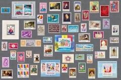 Ρουμανική παλαιά συλλογή γραμματοσήμων Στοκ Εικόνες