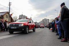 Ρουμανική στρατιωτική παρέλαση εθνικής μέρας vehicule στοκ εικόνες