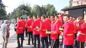 Ρουμανική φρουρά τιμής Στοκ εικόνα με δικαίωμα ελεύθερης χρήσης