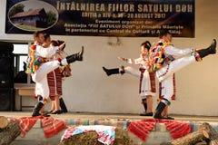 Ρουμανικοί παραδοσιακοί χοροί από την περιοχή Salaj, Ρουμανία Στοκ φωτογραφία με δικαίωμα ελεύθερης χρήσης