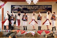 Ρουμανικοί παραδοσιακοί χοροί από την περιοχή Salaj, Ρουμανία Στοκ Εικόνες
