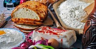 Ρουμανικός παραδοσιακός πίνακας τροφίμων Στοκ φωτογραφία με δικαίωμα ελεύθερης χρήσης