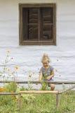 ρουμανικός παραδοσιακός σπιτιών Στοκ Εικόνα