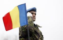 Ρουμανικός στρατιωτικός Στοκ εικόνες με δικαίωμα ελεύθερης χρήσης
