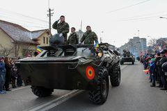 Ρουμανικός στρατός δεξαμενών παρελάσεων εθνικής μέρας στρατιωτικός vehicule στοκ εικόνα με δικαίωμα ελεύθερης χρήσης