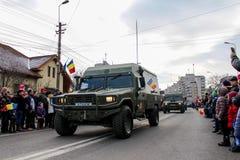 Ρουμανικός στρατός παρελάσεων εθνικής μέρας στρατιωτικός vehicule στοκ εικόνα με δικαίωμα ελεύθερης χρήσης