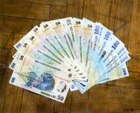 Ρουμανικό νόμισμα εγγράφου στοκ φωτογραφίες
