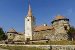 Ρουμανικό παλαιό κάστρο στοκ εικόνες