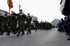 Ρουμανικό πεζικό παρελάσεων εθνικής μέρας στρατιωτικό στοκ εικόνες με δικαίωμα ελεύθερης χρήσης