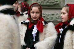 Ρουμανικό φεστιβάλ στο παραδοσιακό κοστούμι Στοκ φωτογραφία με δικαίωμα ελεύθερης χρήσης