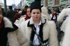 Ρουμανικό φεστιβάλ στο παραδοσιακό κοστούμι Στοκ Φωτογραφία