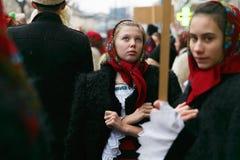 Ρουμανικό φεστιβάλ στο παραδοσιακό κοστούμι Στοκ εικόνες με δικαίωμα ελεύθερης χρήσης