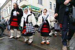 Ρουμανικό φεστιβάλ στο παραδοσιακό κοστούμι Στοκ εικόνα με δικαίωμα ελεύθερης χρήσης