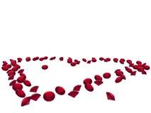 ρουμπίνι καρδιών διανυσματική απεικόνιση