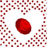 ρουμπίνι καρδιών απεικόνιση αποθεμάτων