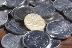 Ρουπία νομισμάτων - ινδονησιακά χρήματα Στοκ φωτογραφία με δικαίωμα ελεύθερης χρήσης