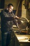 Ρουτίνα εργαστηρίων ξυλουργικής Στοκ Εικόνες