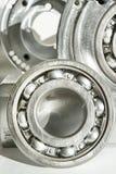 Ρουλεμάν μετάλλων CNC τεχνολογία, κατεργασία, τόρνος άλεσης και dril Στοκ φωτογραφία με δικαίωμα ελεύθερης χρήσης