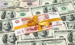 ρούβλι ρωσικά δολαρίων λ&om Στοκ φωτογραφίες με δικαίωμα ελεύθερης χρήσης