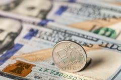 Ρούβλι και δολάρια Στοκ φωτογραφία με δικαίωμα ελεύθερης χρήσης