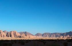 Ρούμι Wadi, η κοιλάδα του φεγγαριού, Άκαμπα, Ιορδανία, Μέση Ανατολή Στοκ φωτογραφία με δικαίωμα ελεύθερης χρήσης