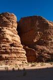 Ρούμι Wadi, η κοιλάδα του φεγγαριού, Άκαμπα, Ιορδανία, Μέση Ανατολή Στοκ Εικόνες