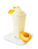 Ροδάκινο milkshake Στοκ Εικόνες