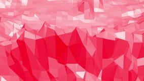 Ροδοειδής ή ρόδινη χαμηλή πολυ ταλαντεμένος επιφάνεια ως λάμποντας περιβάλλον Κόκκινο polygonal γεωμετρικό δομένος περιβάλλον ή ελεύθερη απεικόνιση δικαιώματος