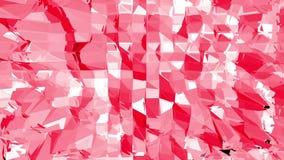 Ροδοειδής ή ρόδινη χαμηλή πολυ ταλαντεμένος επιφάνεια ως ζωντανεψοντα περιβάλλον Κόκκινο polygonal γεωμετρικό δομένος περιβάλλον  απεικόνιση αποθεμάτων