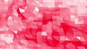 Ροδοειδής ή ρόδινη χαμηλή πολυ ταλαντεμένος επιφάνεια ως δημοφιλές σκηνικό Κόκκινο polygonal γεωμετρικό δομένος περιβάλλον ή διανυσματική απεικόνιση